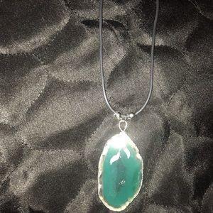 NEW Agate Crystal Green Gemstone